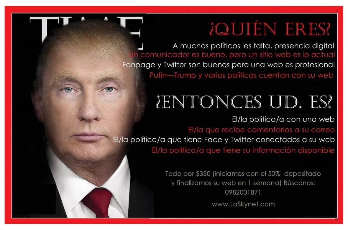 Sitios webs para políticos y personajes públicos en Ecuador - La Skynet agencia digital